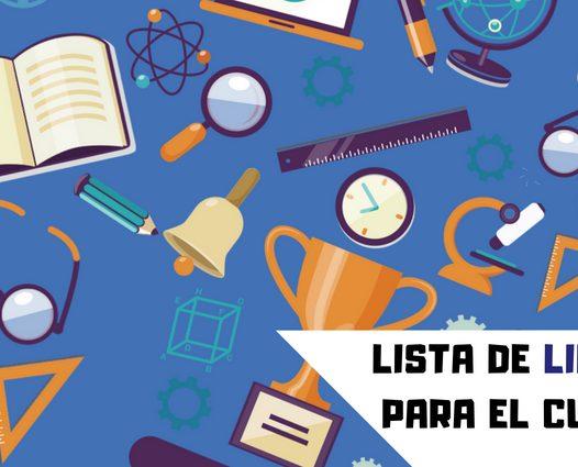 LISTA DE LIBROS Y ÚTILES ESCOLARES PARA EL CURSO ESCOLAR 2018-2019